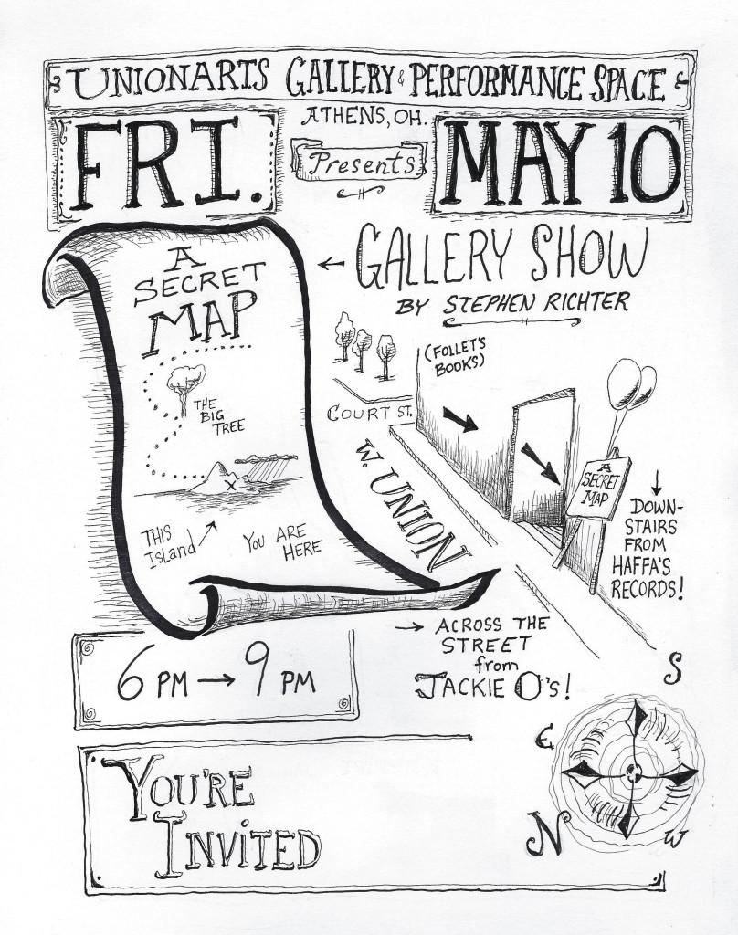 A Secret Map5x6 Gallery Invite